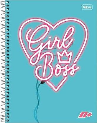 Caderno D+ Girl Boss Tilibra 10 Matérias / 200fls
