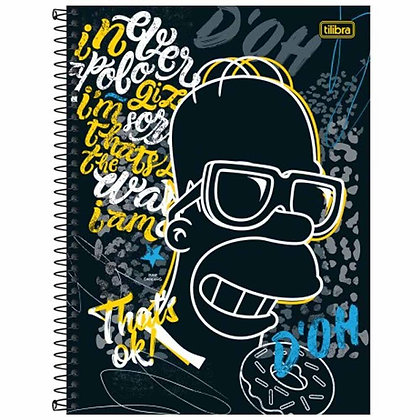 Caderno The Simpsons Tilibra DO'H 80fls