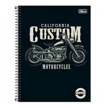 Caderno Pepper California Custom Motorcycles Tilibra 80fls