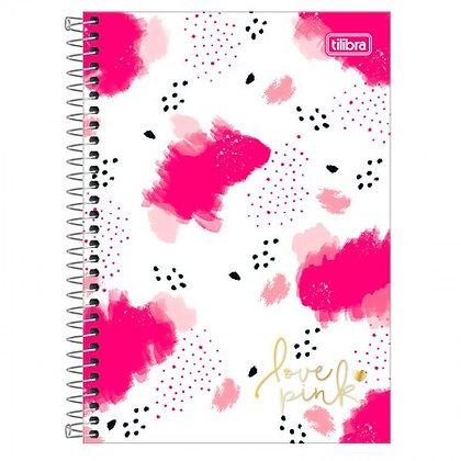 Caderno Love Pink 3 Tilibra 80fls