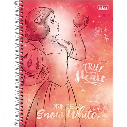 Caderno Princess Snow White Tilibra 80fls
