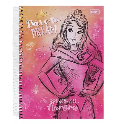 Caderno Princess Aurora Tilibra 80fls