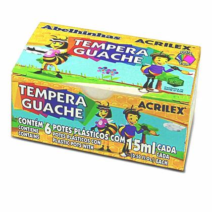 TEMPERA GUACHE 6 POTES ACRILEX