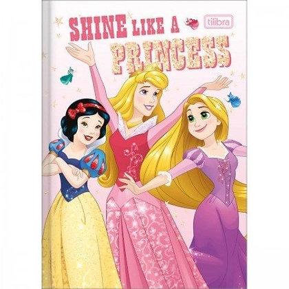 Caderno Brochura Tilibra 80fls Shine Like a Princess