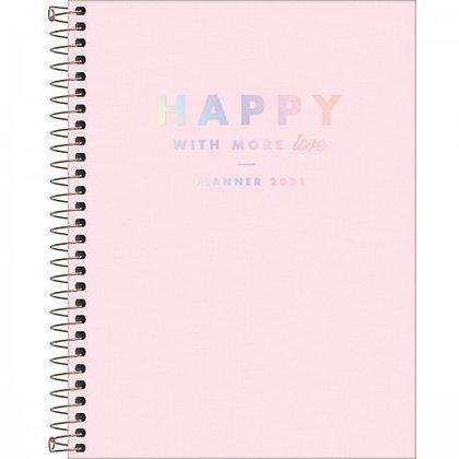 Agenda Planner Espiral Happy Rosa 2021