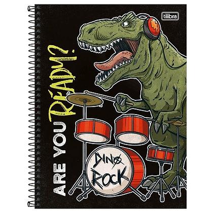 Caderno Are You Ready? Dino Rock! Tilibra 80fls