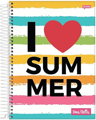Caderno Uma Stella I Love Summer Jandaia 80fls