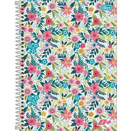 Caderno D+ Flowers Tilibra 80fls