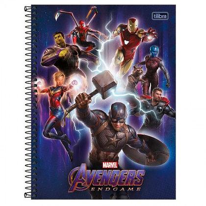 Caderno Avengers Equipe 3 Espiral 80f Tilibra