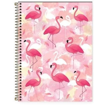 Caderno Flamingo Pink Tilibra 80fls