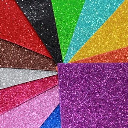 Placa de EVA c/ Glitter Cores