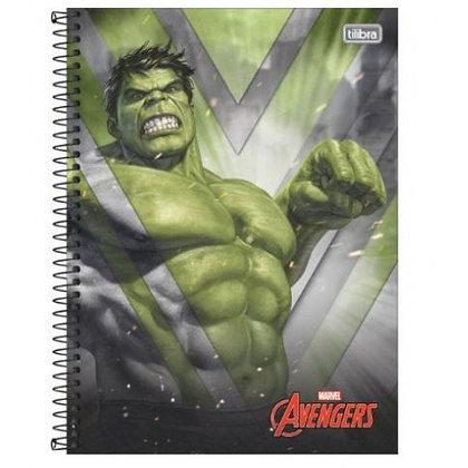 Caderno Avengers Hulk Espiral 80f Tilibra