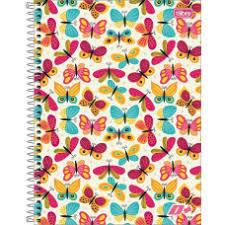 Caderno D+ Butterflies Tilibra 10 Matérias / 200fls
