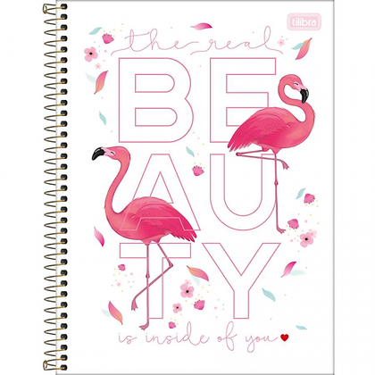 Caderno Flamingo Beauty Tilibra 80fls