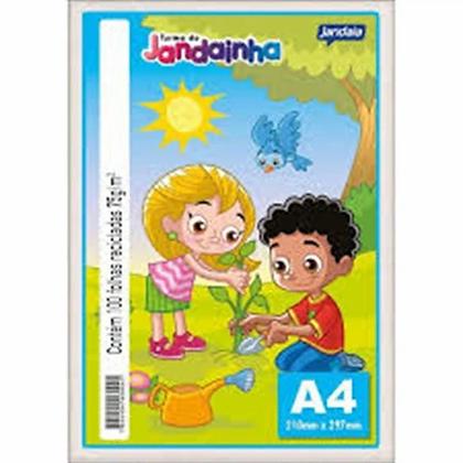 FOLHA DE SULFITE A4 BRANCO - 100FL JANDAINHA