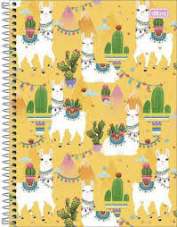 Caderno Lhama Yellow Tilibra 80fls