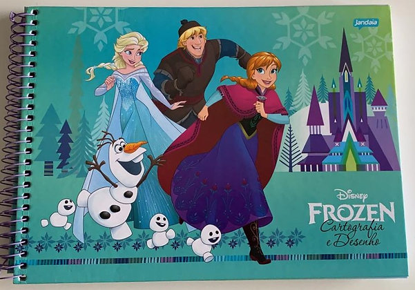 Caderno de Desenho Disney Frozen Olaf Mod. 2 Jandaia 96fls