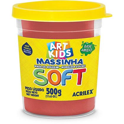 MASSINHA DE MODELAR SOFT 500G VERMELHA ACRILEX
