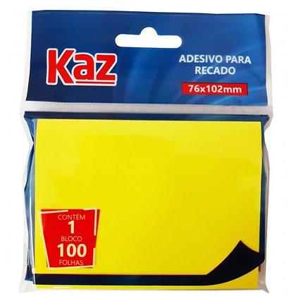 ADESIVO PARA RECADO 76x102 GRANDE AMARELO KAZ