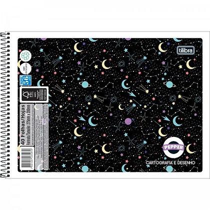 Caderno de Desenho Pepper Space Tilibra 80fls