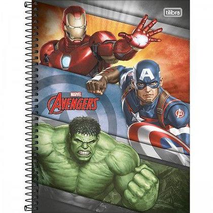 Caderno Avengers Equipe Espiral 80f Tilibra