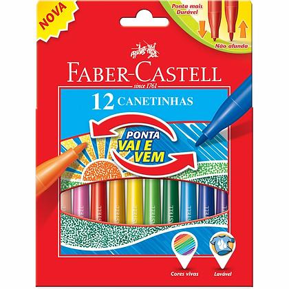 CANETINHA VAI E VEM - 12 CORES FABER CASTELL