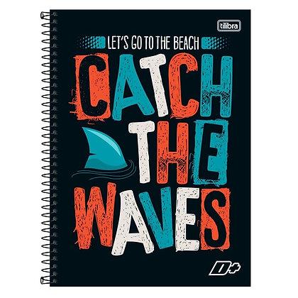 Caderno D+ Catch the Waves Tilibra 96fls