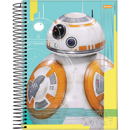 Caderno Star Wars Robot Jandaia 96fls