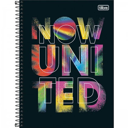 Caderno Now United 3 Tilibra 80fls Espiral