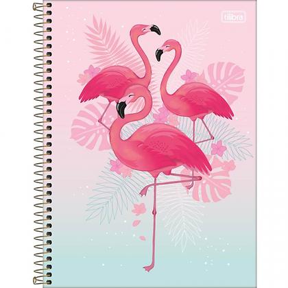 Caderno Flamingo Gradient Tilibra 80fls