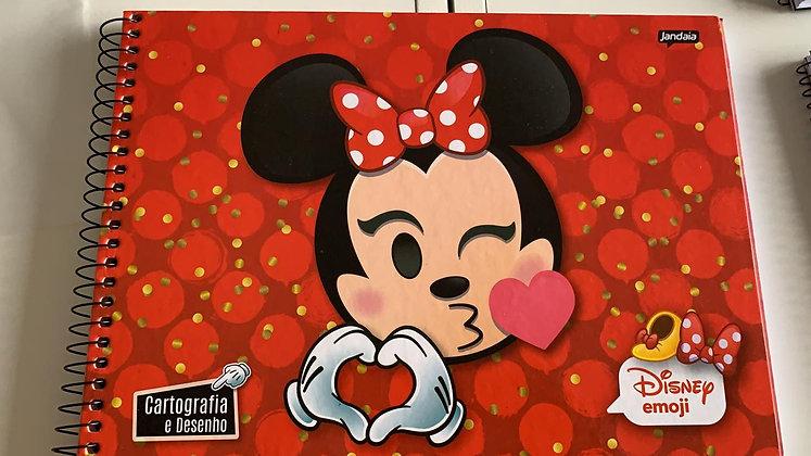 Caderno de Desenho Disney Emoji Jandaia 96fls