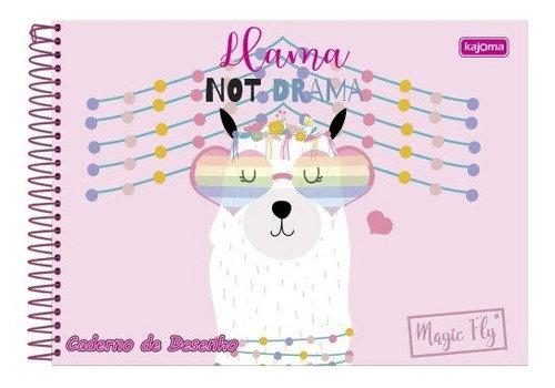 Caderno de Desenho Lhama Not Drama Kajoma 96fls
