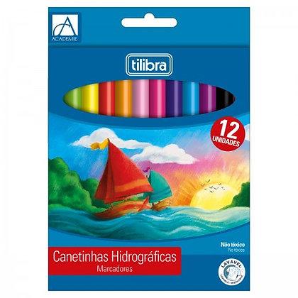 CANETINHAS HIDROGRAFICAS - 12  CORES TILIBRA