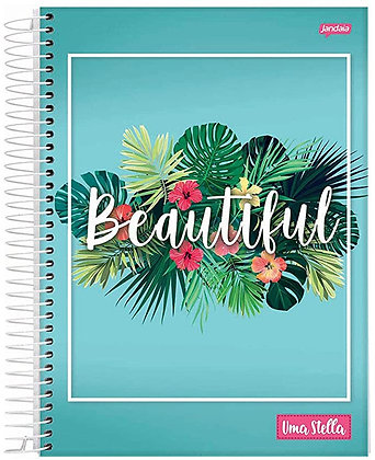 Caderno Uma Stella Beautiful Jandaia 80fls