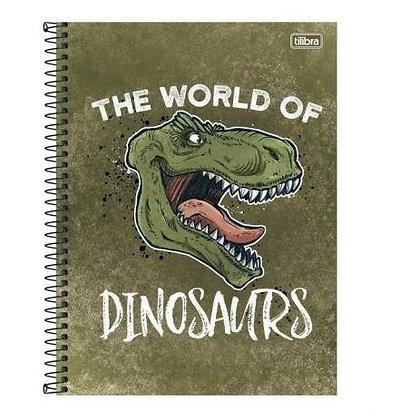 Caderno The World of Dinosaurs Tilibra 80fls