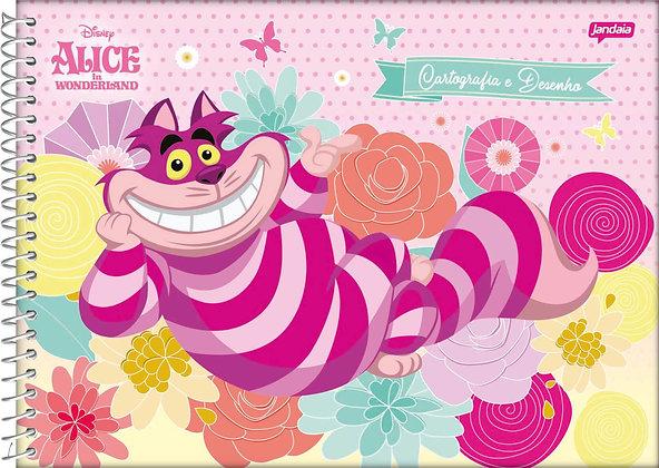Caderno de Desenho Alice In Wonderland Cheshire Jandaia 96fls