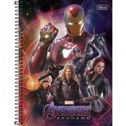 Caderno Avengers Equipe 2 Espiral 80f Tilibra