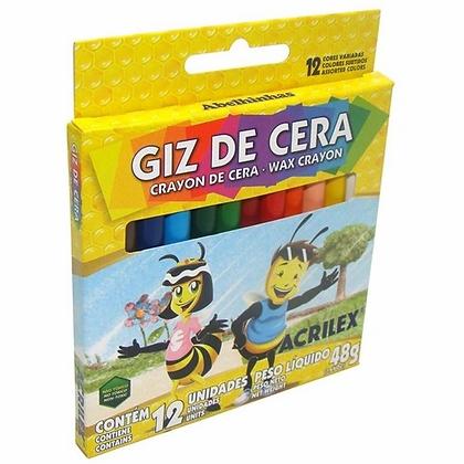 GIZ DE CERA FINO 12 CORES ACRILEX