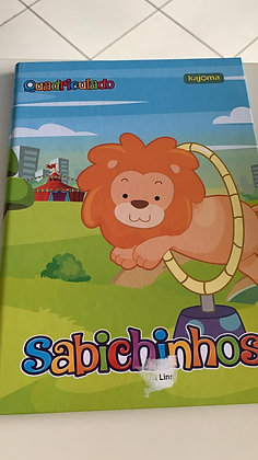 Caderno Quadriculado Sabichinhos Kajoma Lion 96fls Brochura