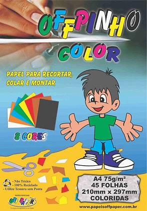Bloco criativo color 120g 235 x 325 c/ 8 cores OffPinho
