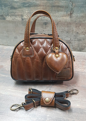 Sac SkinAss MINI MISS cuir marron vintage / Brown