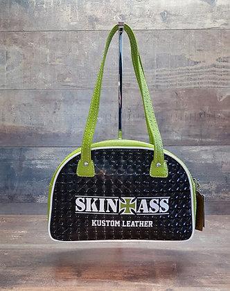 Sac SkinAss classique skaï 3D et autruche vert