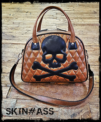 Sac SkinAss marron skull n°013 / Brown skull bag