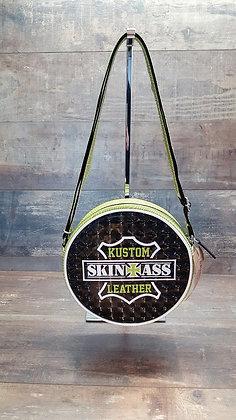 Sac SkinAss rond skaï 3D et zèbre vert anis