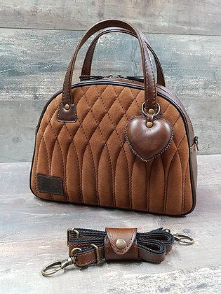 SkinAss BIG BOSS cuir marron vintage et nubuck / Brown and nubuck  lea