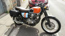 skinass - selles motos - kawazaki W650 gulf