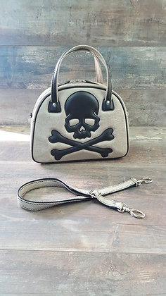 Sac SkinAss Crème/skull / cream handbag