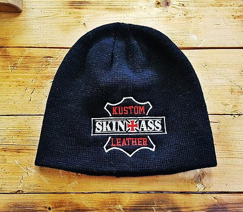 Bonnet noir brodé W&R / SkinAss black W&R knit cap