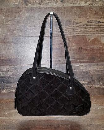 Sac SkinAss réservoir nubuck noir / black handbag