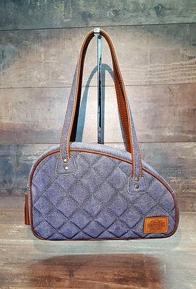 Sac SkinAss cuir jean / blue leather bag
